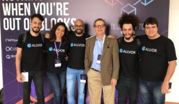 Allvor team at Blockcrypto Brasil event